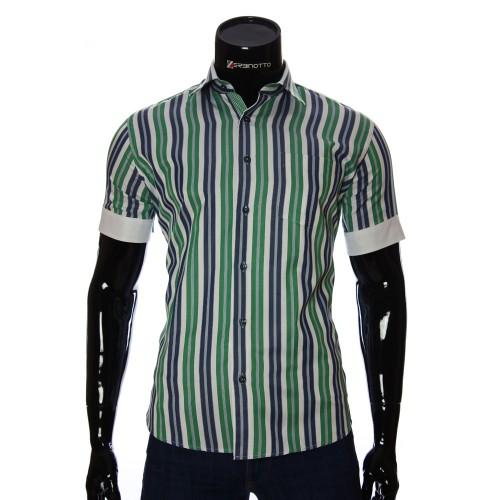 Мужская рубашка в полоску с коротки рукавом BEL 921-4