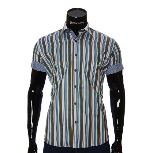 Men's striped shirt Short Sleeve BEL 921-8