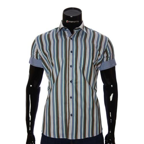 Мужская рубашка в полоску с коротки рукавом BEL 921-8