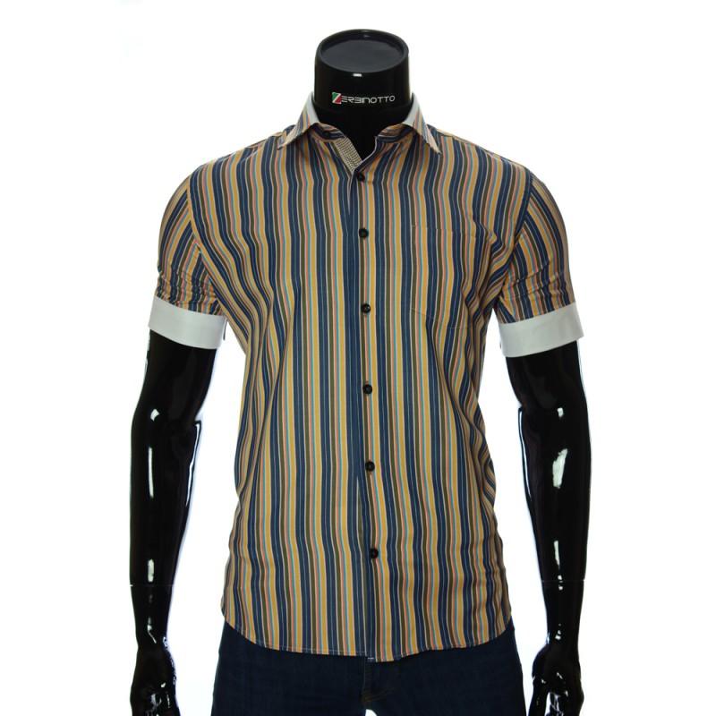 Мужская рубашка в полоску с коротки рукавом BEL 921-12