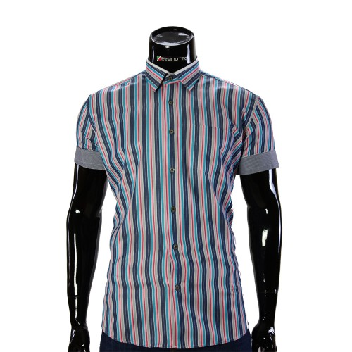 Men's striped shirt Short Sleeve BEL 921-13