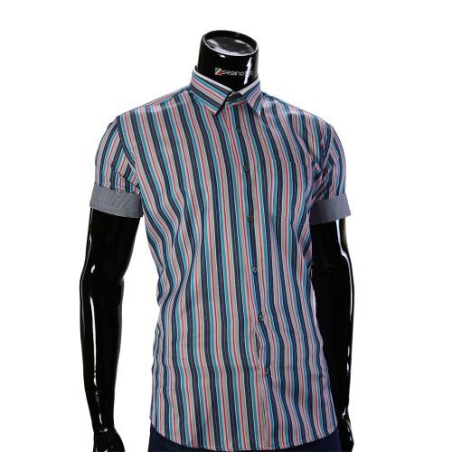Мужская рубашка в полоску с коротки рукавом BEL 921-13