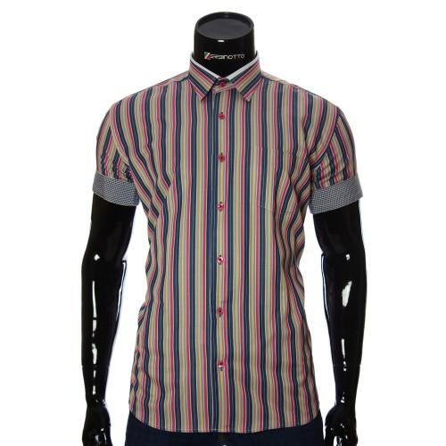 Мужская рубашка в полоску с коротким рукавом BEL 921-14