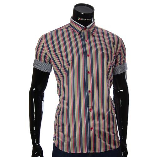 Мужская рубашка в полоску с коротки рукавом BEL 921-914