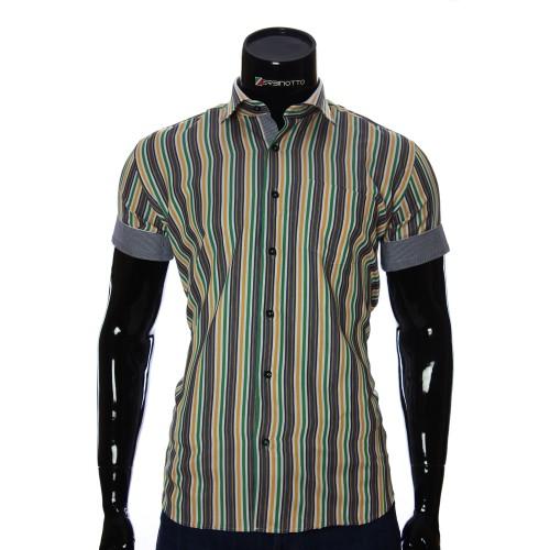 Мужская рубашка в полоску с коротки рукавом BEL 921-19