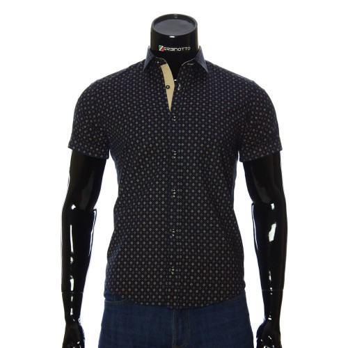 Men's pattern shirt Short Sleeve BEL 932-5