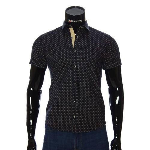 Мужская рубашка с коротки рукавом в узор BEL 932-5
