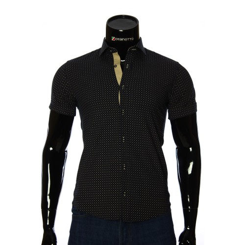 Men's pattern shirt Short Sleeve BEL 932-6