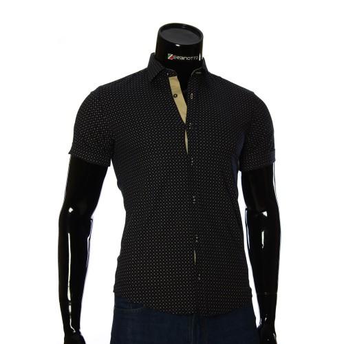 Мужская рубашка с коротки рукавом в узор BEL 932-6