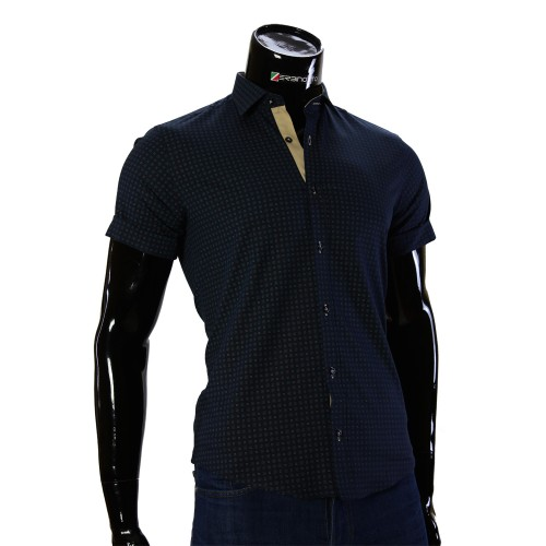 Мужская рубашка с коротки рукавом в узор BEL 932-13