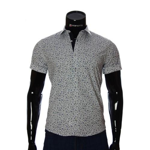 Мужская рубашка с коротким рукавом в узор BEL 932-16