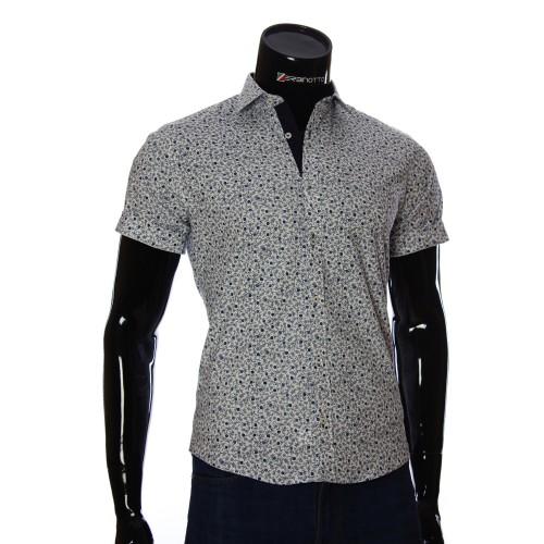 Мужская рубашка с коротки рукавом в узор BEL 932-16
