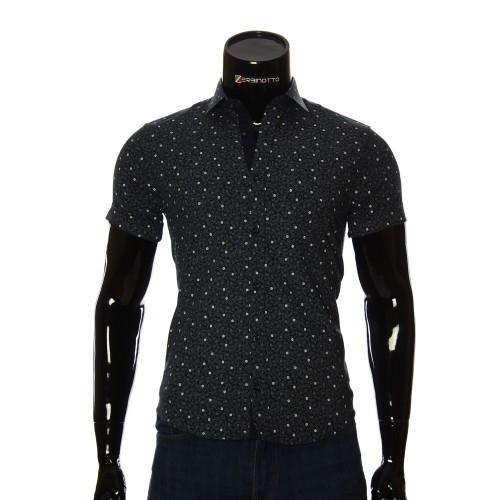Мужская рубашка с коротким рукавом в узор BEL 932-17