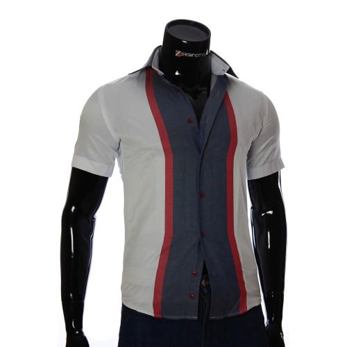Мужская рубашка в полоску с коротки рукавом GF 1205-3