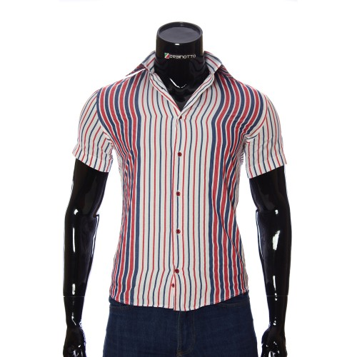 Men's striped shirt Short Sleeve GF 1205-4