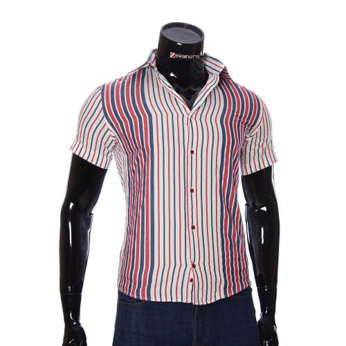Мужская рубашка в полоску с коротки рукавом GF 1205-4
