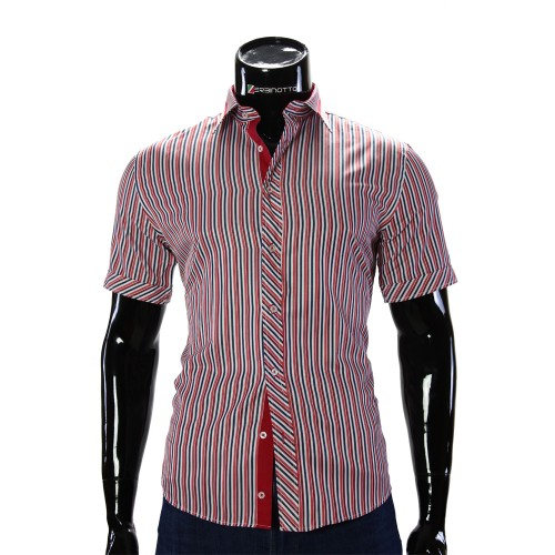 Men's striped shirt Short Sleeve GF 2066-2