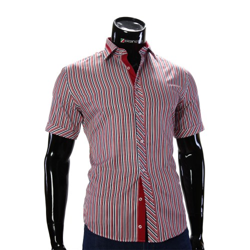 Мужская рубашка в полоску с коротки рукавом GF 2066-2