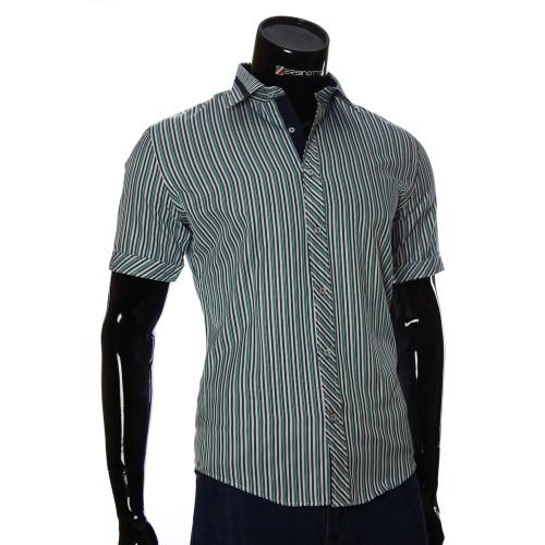 Мужская рубашка в полоску с коротки рукавом GF 2066-4