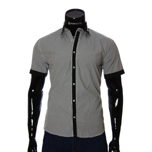 Мужская рубашка в полоску с коротким рукавом GF 2423-4