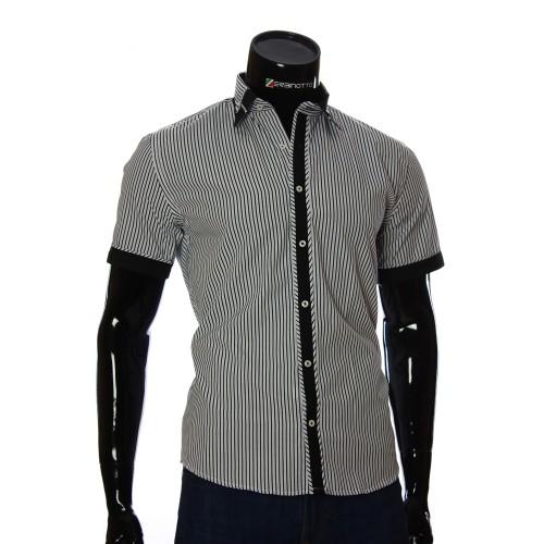 Мужская рубашка в полоску с коротки рукавом GF 2423-4