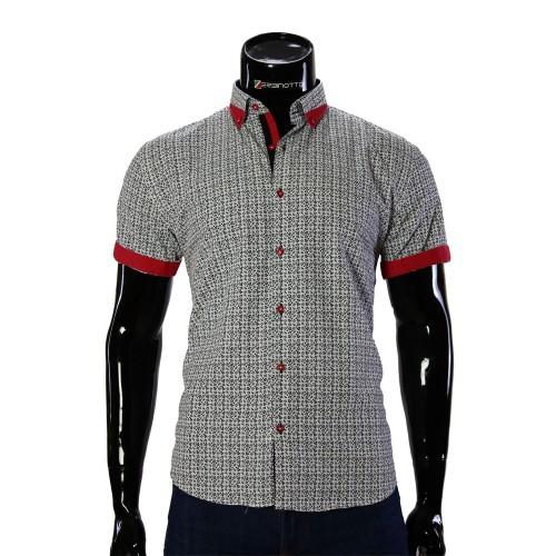 Мужская рубашка с коротким рукавом в узор GF 20296-1