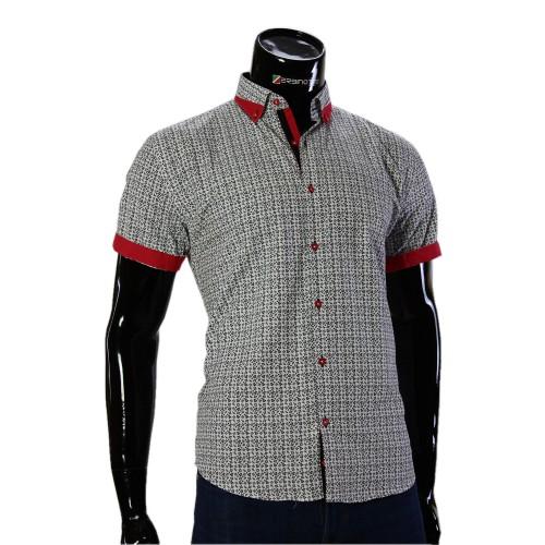 Мужская рубашка с коротки рукавом в узор GF 20296-1