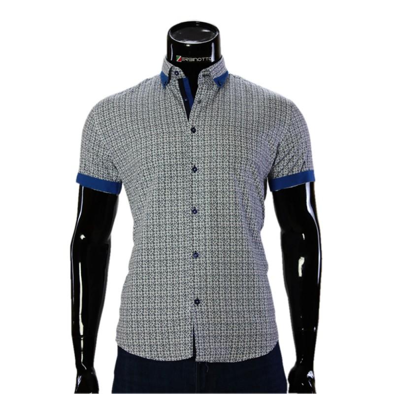 Мужская рубашка с коротки рукавом в узор GF 20296-2