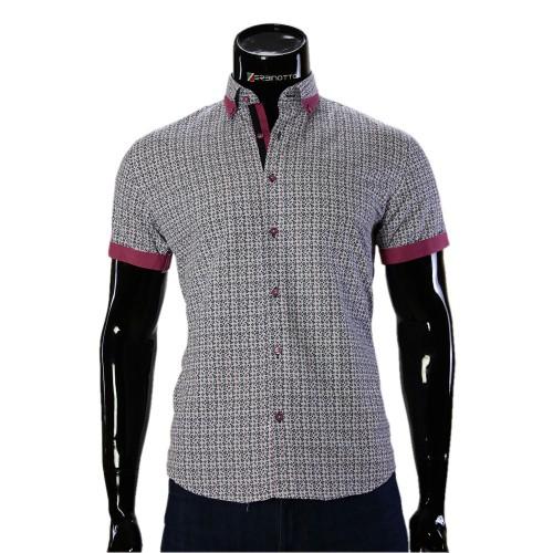 Мужская рубашка с коротким рукавом в узор GF 20296-3