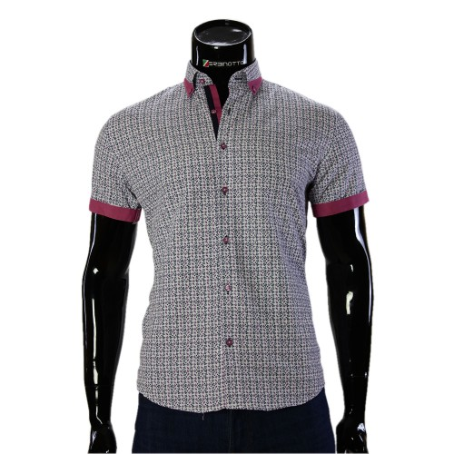 Men's pattern shirt Short Sleeve GF 20296-3