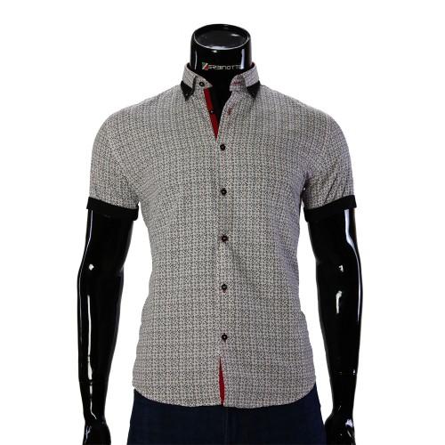 Мужская рубашка с коротким рукавом в узор GF 20296-4