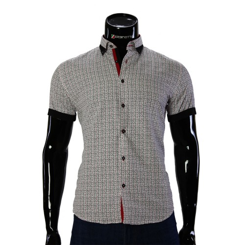 Men's pattern shirt Short Sleeve GF 20296-4