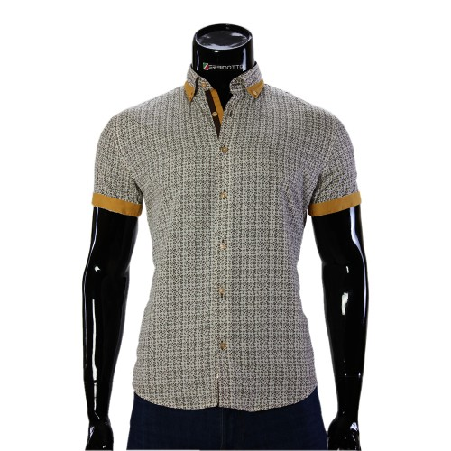 Men's pattern shirt Short Sleeve GF 20296-5