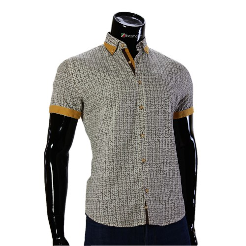Мужская рубашка с коротки рукавом в узор GF 20296-5