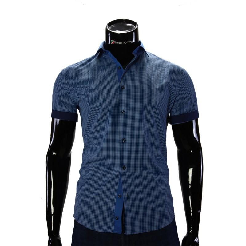 Мужская рубашка в клетку с коротким рукавом GF 0169-1