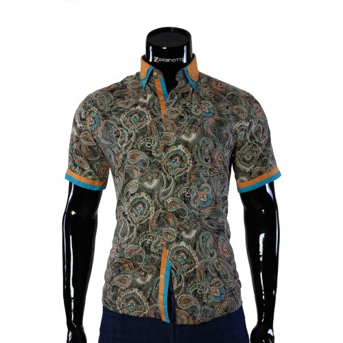 Men's pattern shirt Short Sleeve GF 0426-1