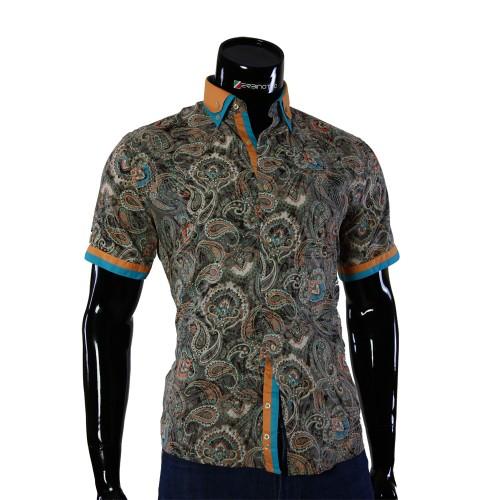 Мужская рубашка с коротким рукавом в узор GF 0426-1